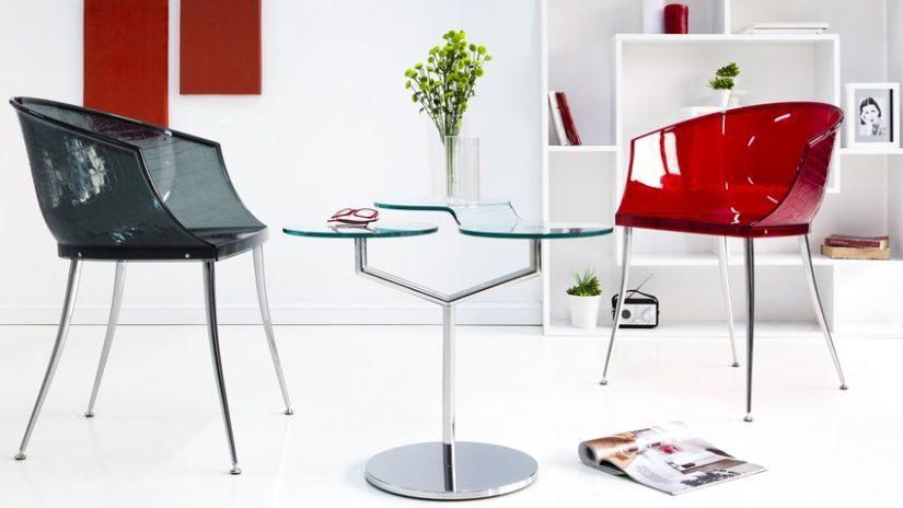 moderní červené židle