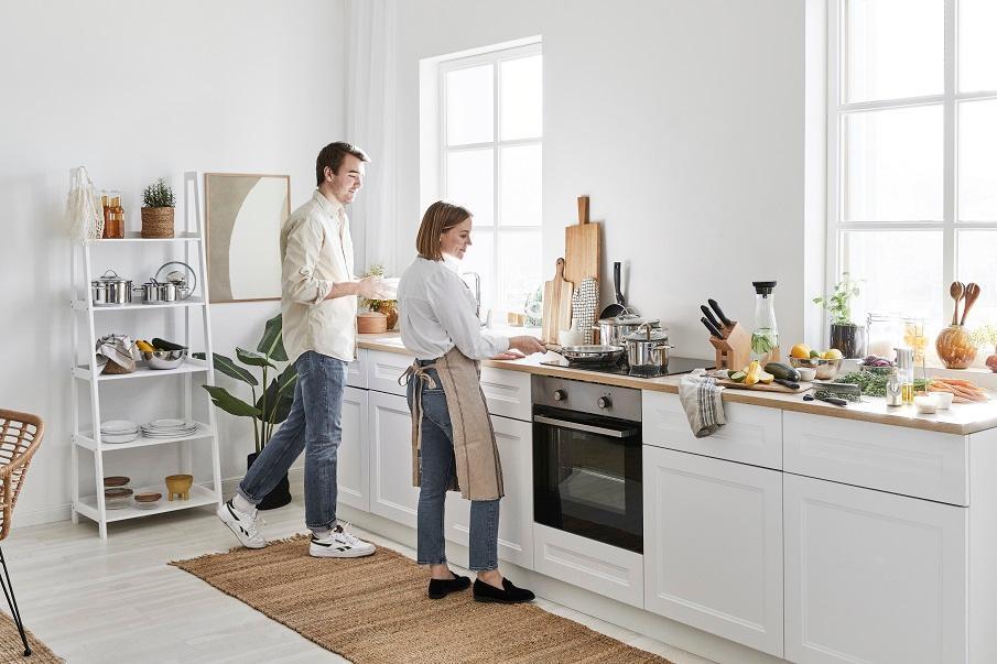 Jute-Teppich in der Küche
