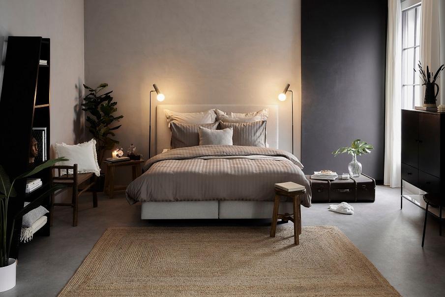 Jute-Teppich im Schlafzimmer