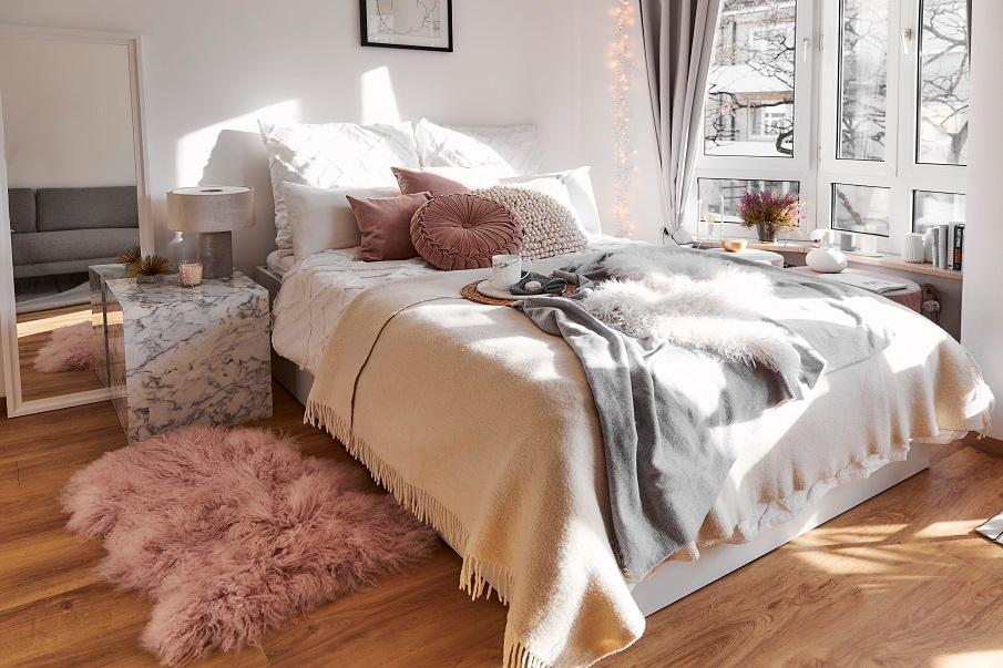 Teppich Rosa Schlafzimmer