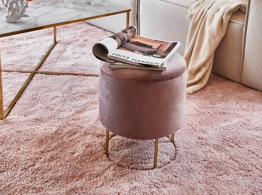 Teppich in Rosa 250 x 250