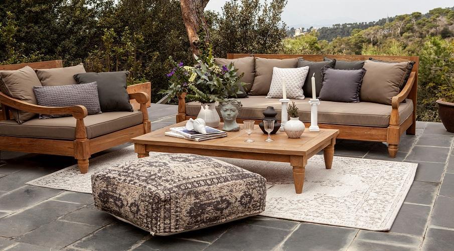 Vintage Teppich Outdoor Terrasse