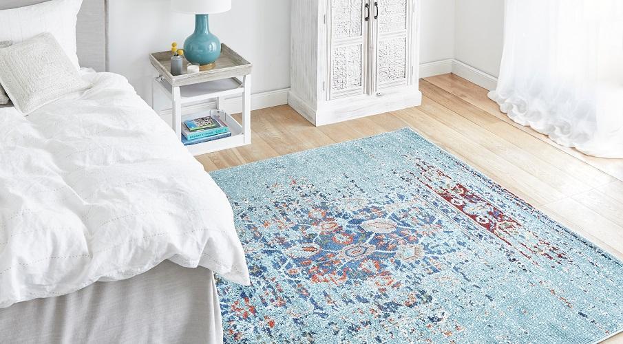 Vintage Teppich Schlafzimmer