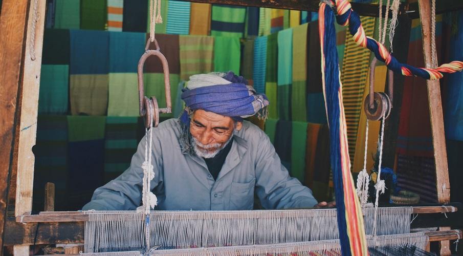 Berber Teppich handgeknüpft handarbeit