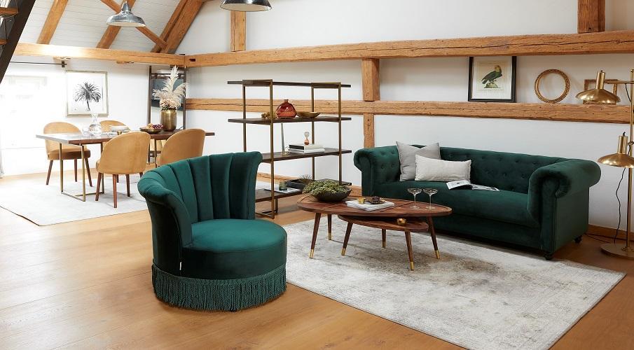 Vintage Teppiche Wohnzimmer orient grau