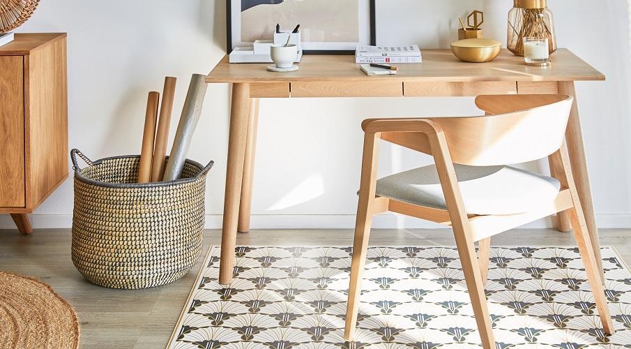 Vinyl Teppiche Kunststoff Schreibtisch Arbeitszimmer Muster