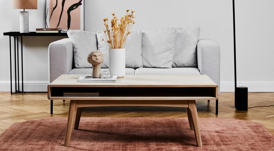 Couchtische Boho braun Holz Sofa