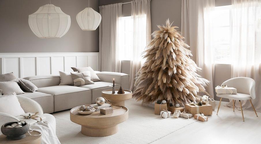 Wohnzimmer weihnachtlich dekoriert