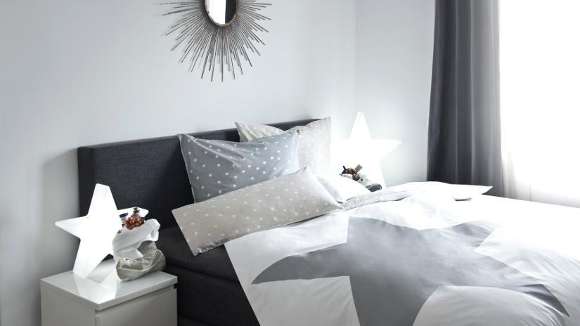 Cabecero de cama gris