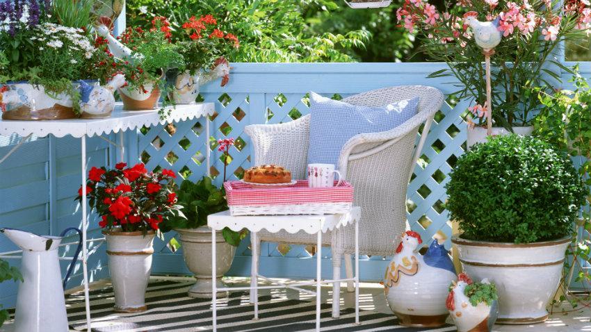 Decoración de balcones pequeños, ideas top