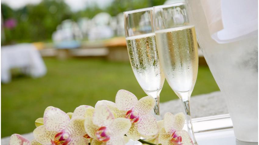 Decoración de recepción de bodas