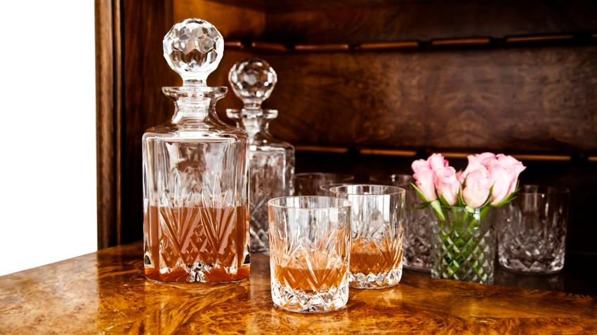 Vasos de cristal antiguos