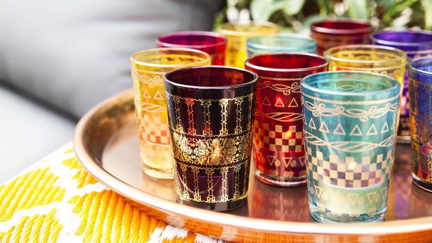 Pintar vasos de cristal