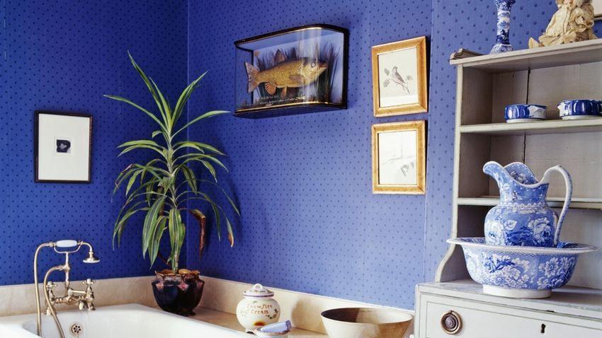 Papel pintado azul