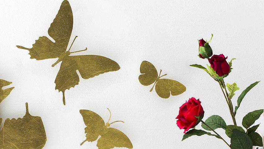 Papel pintado de mariposas