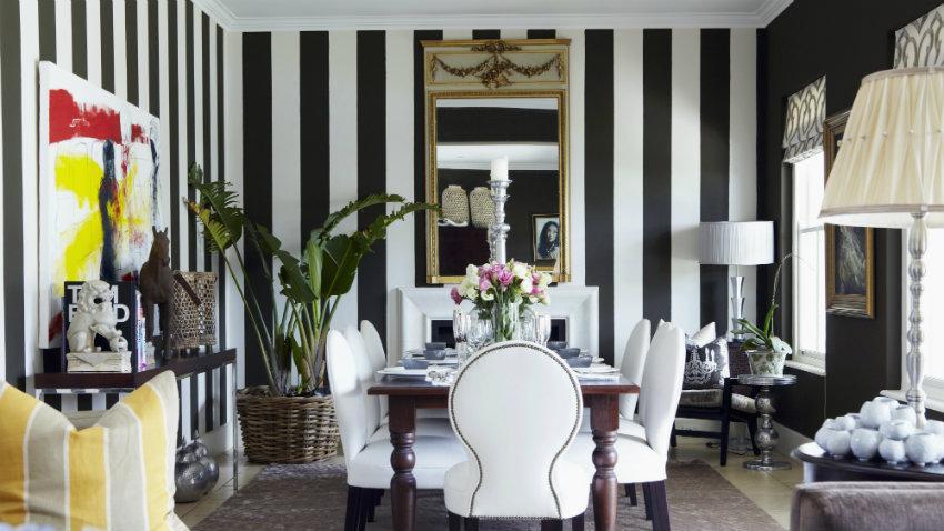 Papel pintado en blanco y negro