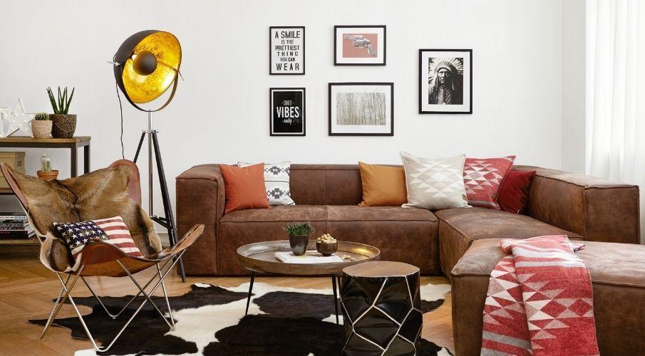 Sofa modular marrón