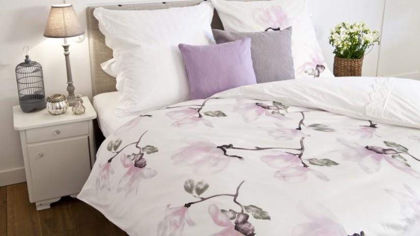 housse de couette, parure de lit, housse de couette violette