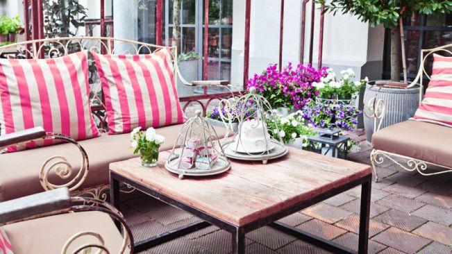 Terrasse classique de style italien