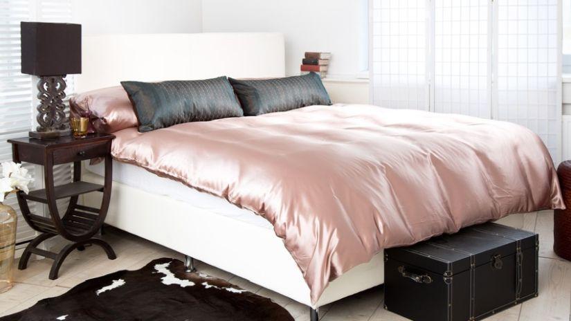 Parure de lit en satin de coton