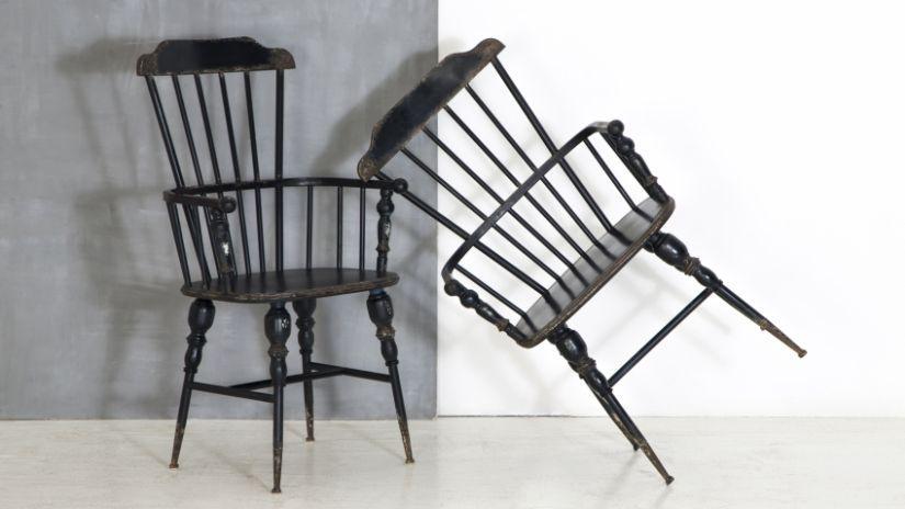 Chaises noires