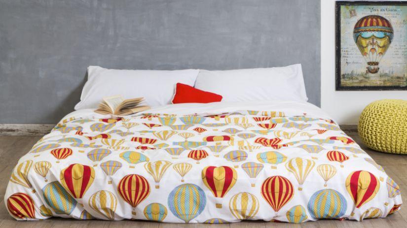Parure de lit orange à motifs