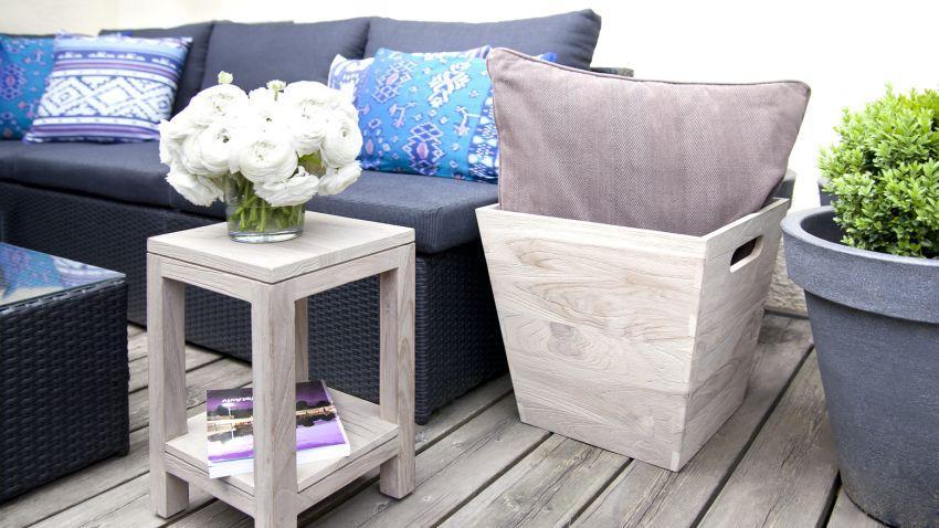 Canapé de jardin gris