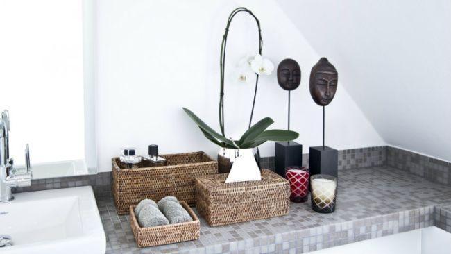 Décoration zen de salle de bain