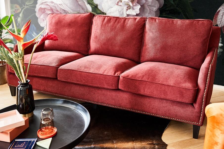 canapé rouge droit