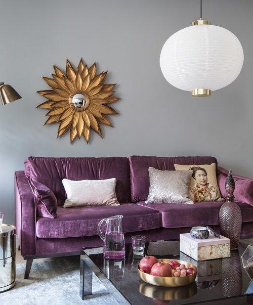 Canapés violets