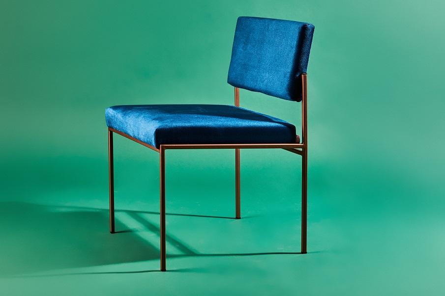 chaise en velours 03