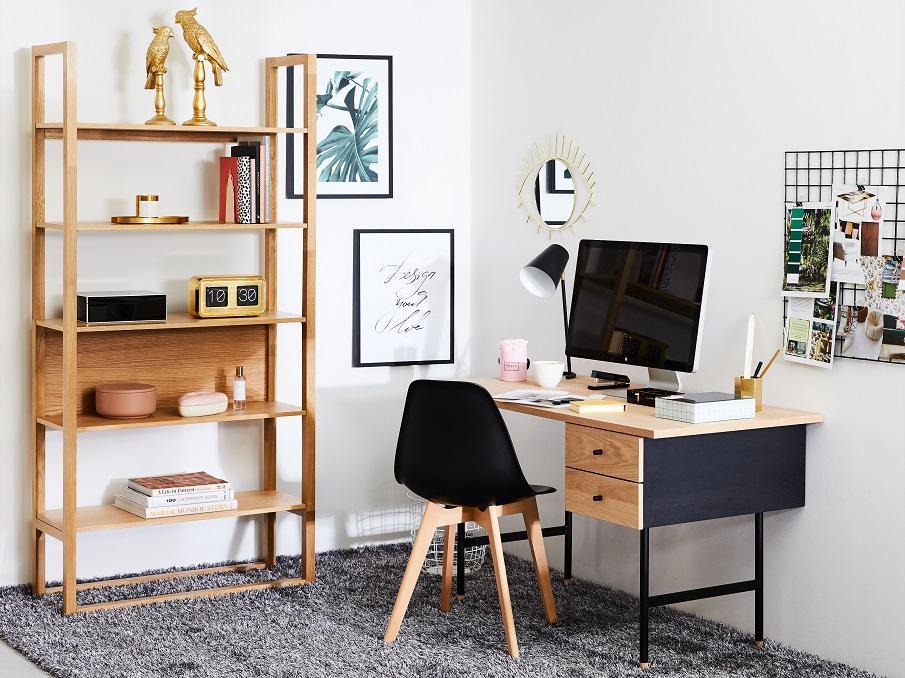 petit bureau type industriel bois et noir
