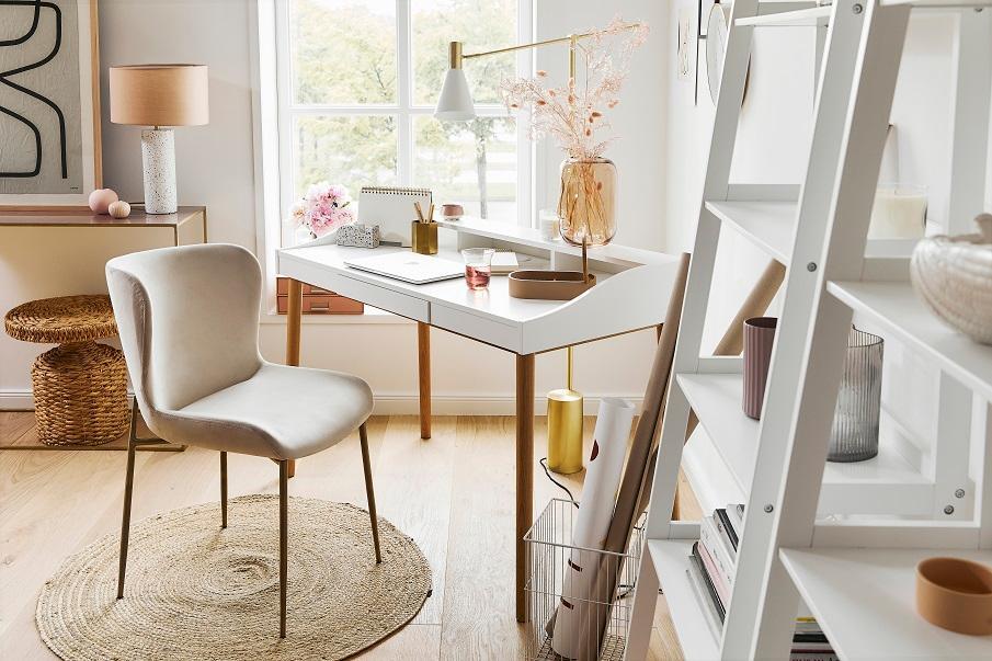 fauteuil beige design scandi pour le bureau