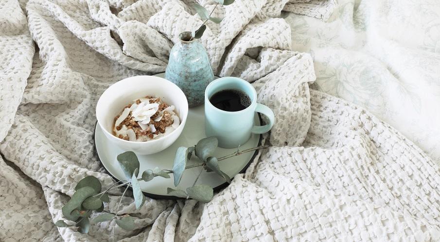 plaid en gaze de coton pour l'hiver