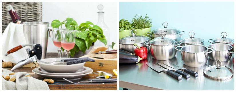 utensili da cucina pentole in acciaio