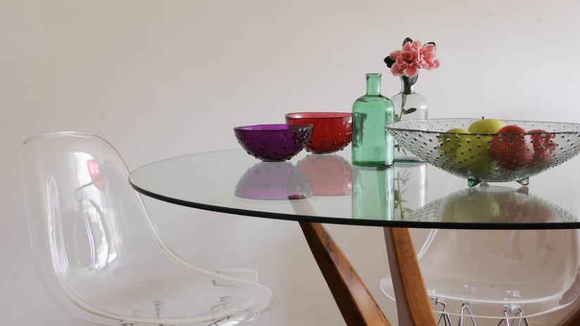 tavoli di cristallo tavolo cristallo sedia vasi ciotole