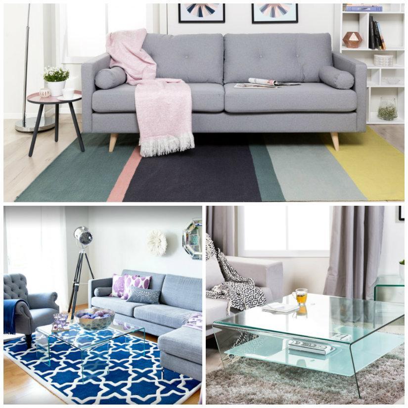 tappeti moderni con color block