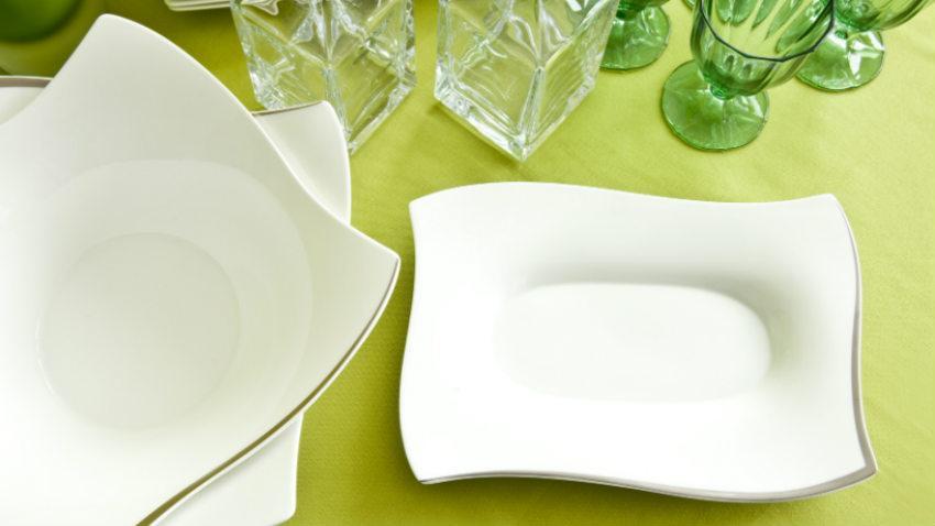 Servizio di piatti rettangolari