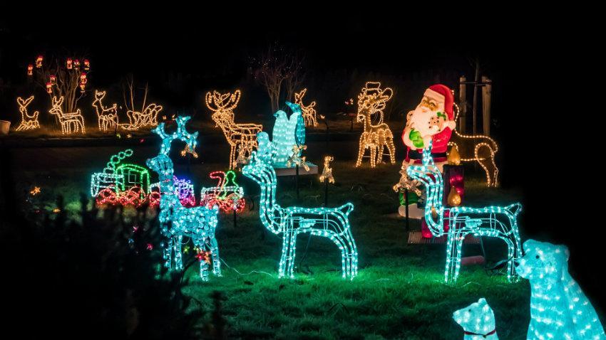 Luci natalizie per esterno