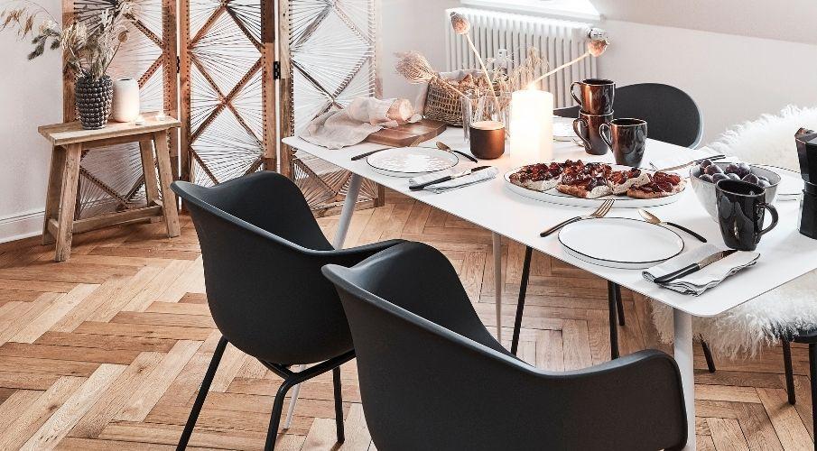 Tavolo bianco allungabile