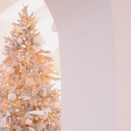Alberi di Natale bianchi