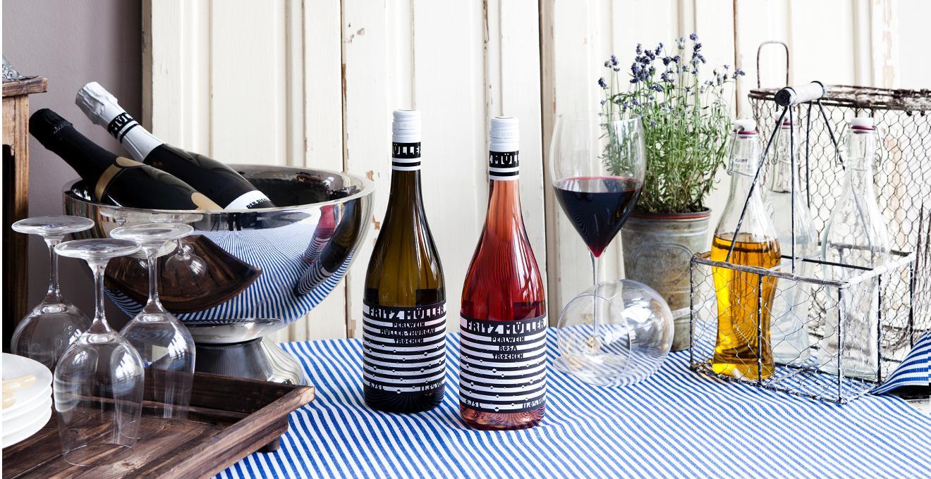 Houten wijnrek
