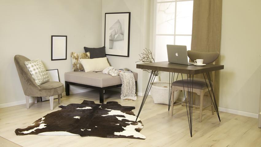 grijs bureau in modern interieur
