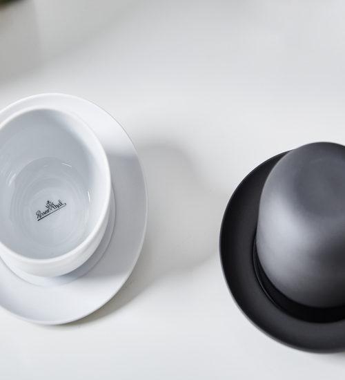 Zwart witte serviezen