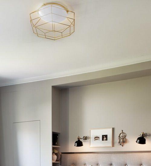 Gouden plafondlampen