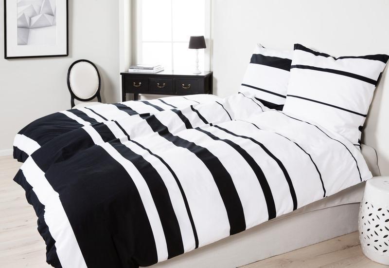 dekbedovertrek zwart wit
