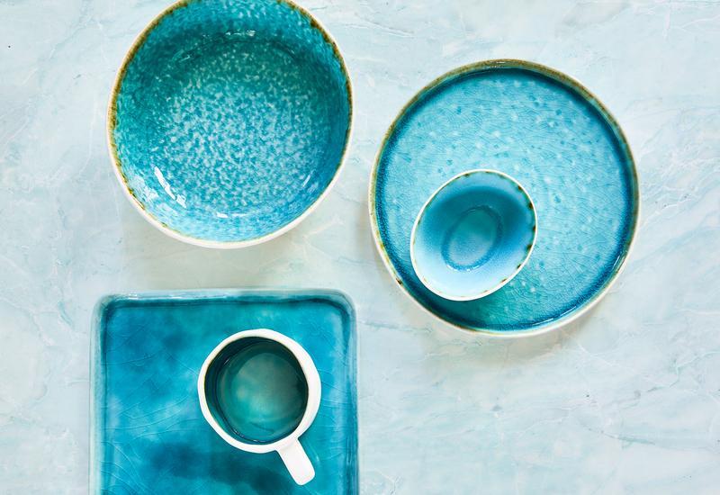 blauw servies