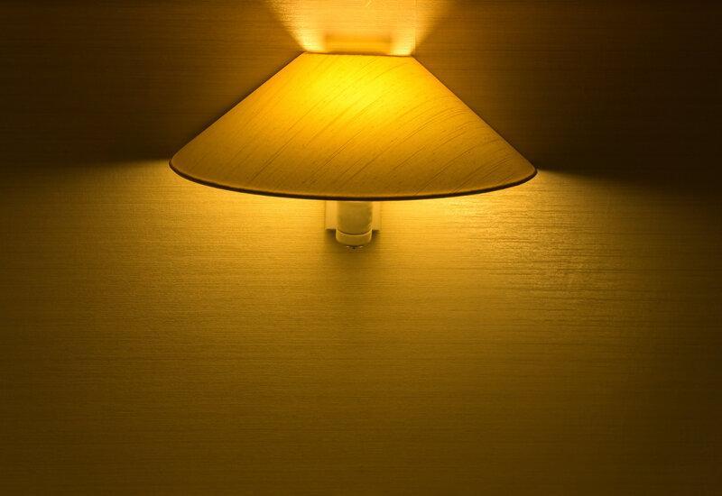 Dimbare wandlamp met warm licht