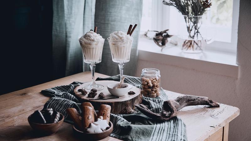 Irish coffee glazen en koekjes