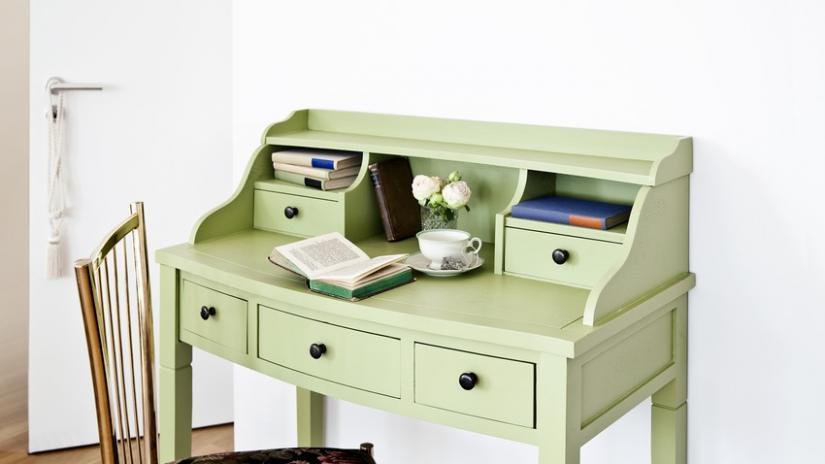 biurko zielone